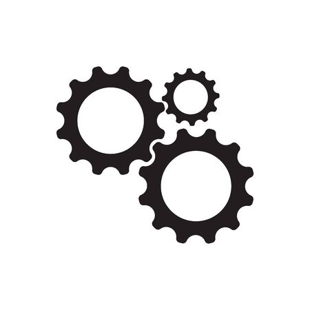Gear Logo Szablon wektor ikona ilustracja projekt