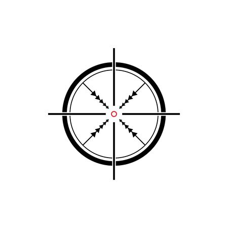 set of target icon vector
