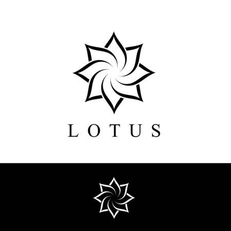 Beauty Vector flowers design logo Template icon Standard-Bild - 129150645