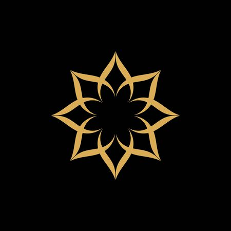 Beauty Vector flowers design logo Template icon Standard-Bild - 129150646