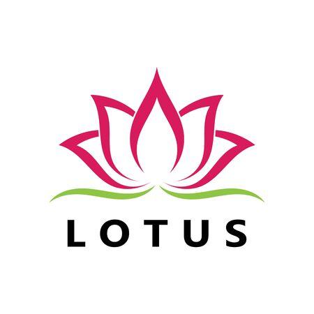 Beauty Vector flowers design logo Template icon Standard-Bild - 129150653