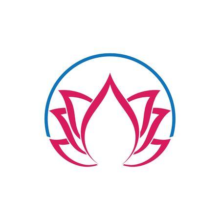Beauty Vector flowers design logo Template icon Standard-Bild - 129150719