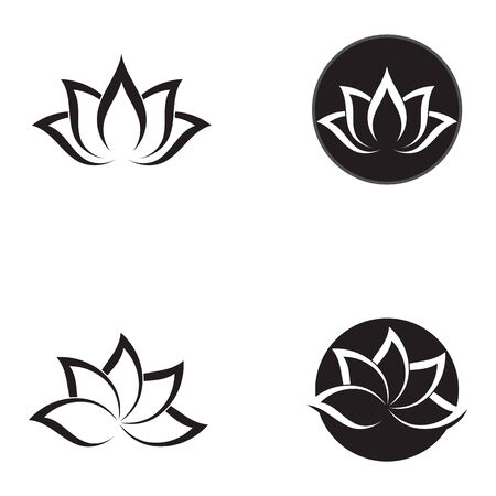 Beauty Vector flowers design logo Template icon Illustration