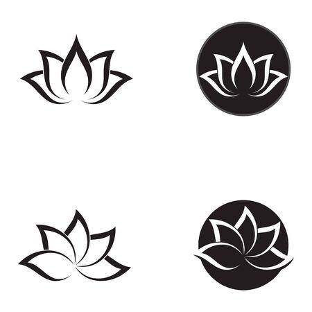 Beauty Vector flowers design logo Template icon Standard-Bild - 129150713