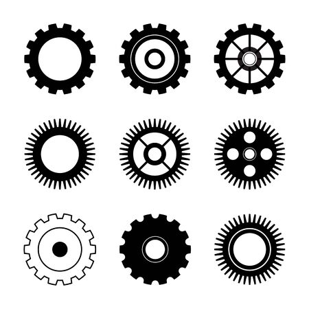 Gear Logo Template Vektor Icon Illustration Design