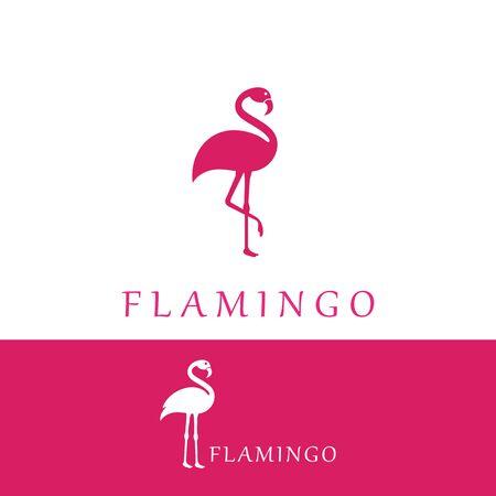 Flamingo logo template vector illustration