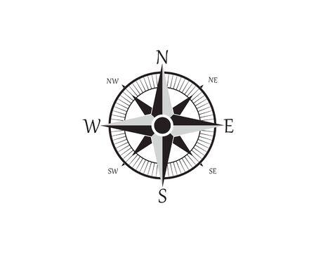Compass Logo Template vector icon illustration design Zdjęcie Seryjne - 129461315