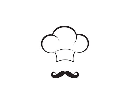 Chef logo template vector icon Ilustrace