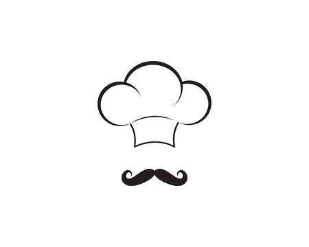 Icône de vecteur de modèle de logo de chef
