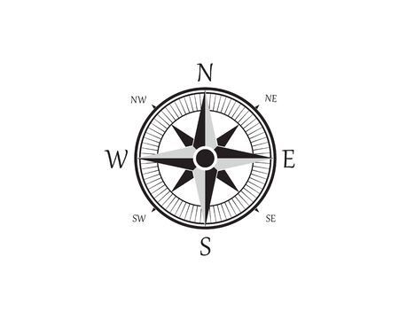 Compass Logo Template vector icon illustration design Zdjęcie Seryjne - 129461347