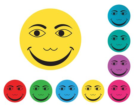 Joy Icon Logo Template Illustration