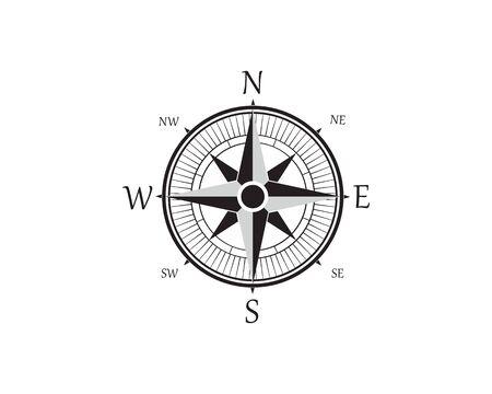 Compass Logo Template vector icon illustration design Zdjęcie Seryjne - 129461358