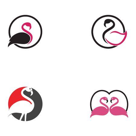 Flamingo logo template vector illustration Фото со стока - 129461453