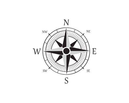 Compass Logo Template vector icon illustration design Zdjęcie Seryjne - 129461464