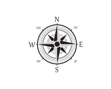 Compass Logo Template vector icon illustration design Zdjęcie Seryjne - 129461706