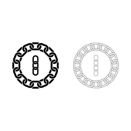 Chain link icon vector illustration design Ilustrace