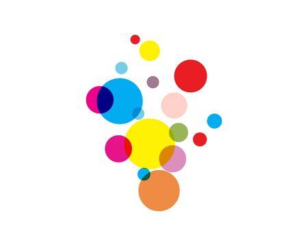 Bubble logo template vector icon illustration design Banque d'images - 129461802