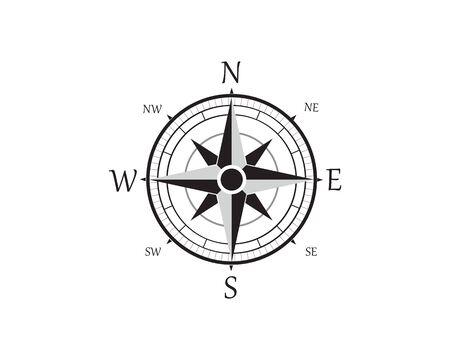 Compass Logo Template vector icon illustration design Zdjęcie Seryjne - 129461812