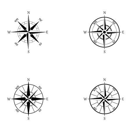 Vektorgrafik Standard-Bild - Kompasszeichen und Symbole logo