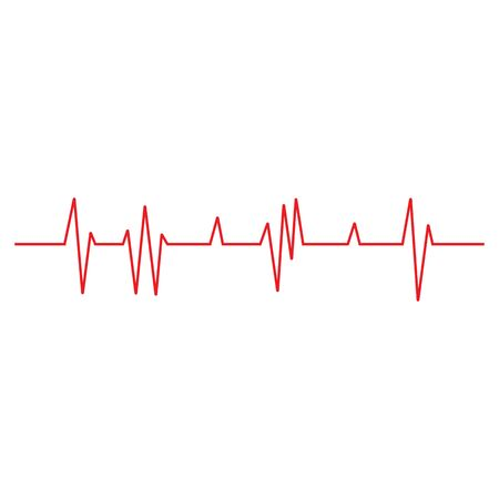 Pulse line ilustration vector template red