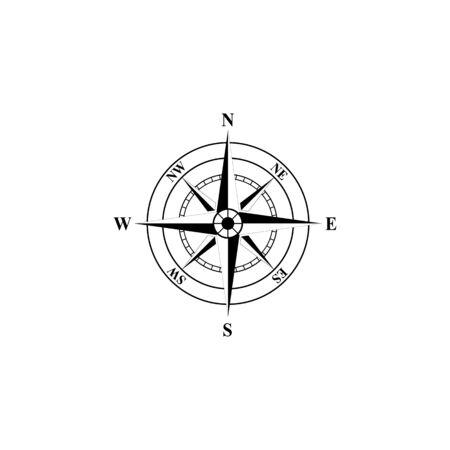 Vektorgrafik Standard-Bild - Kompasszeichen und Symbole logo Logo