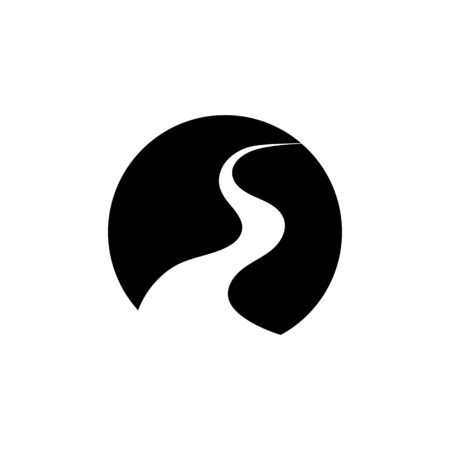 River Logo Template vector icon illustration Logo