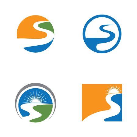 River Logo Template vector icon illustration