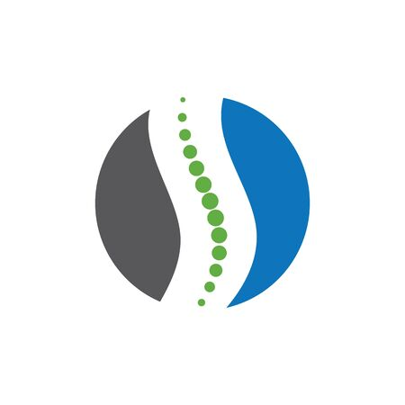Diagnostyka kręgosłupa symbol logo szablon wektor ilustracja projekt