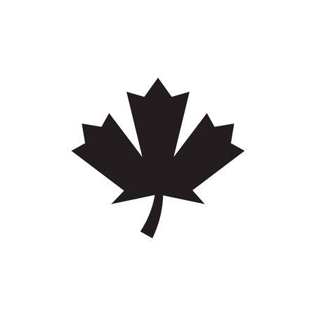 Stylized Autumn Maple Leaf Foliage logo icon Stock Illustratie