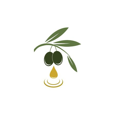 Olive logo modello icona vettore illustration design Logo