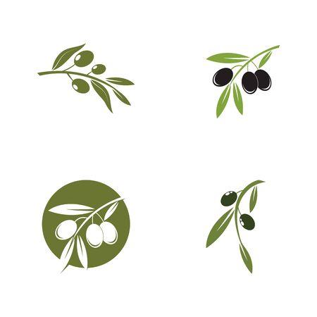 Set of Olive logo template vector icon illustration design