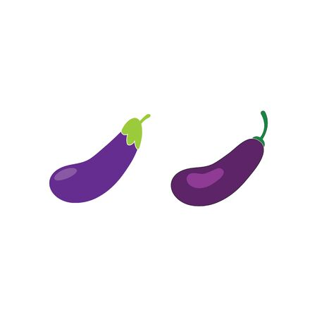 Set of Eggplant logo for design.vector illustration