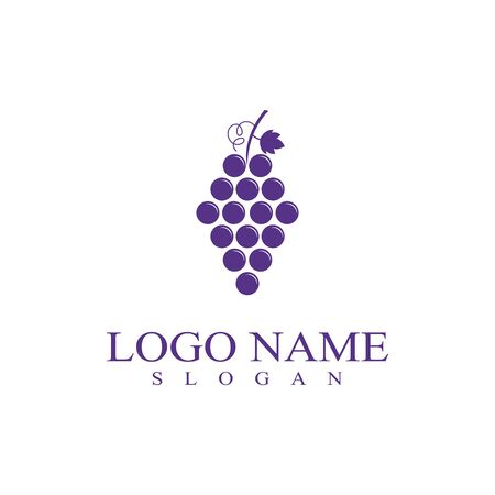 Grapes template vector icon illustration design
