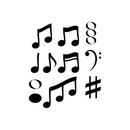 note music vector illustration design Stock Illustratie