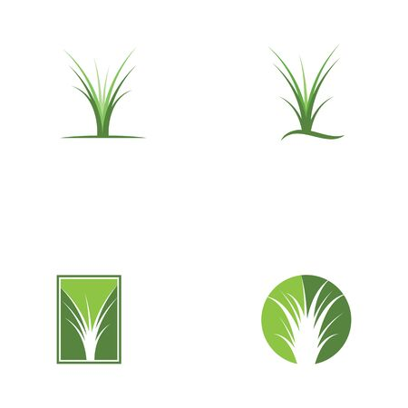 Set of grass vector template