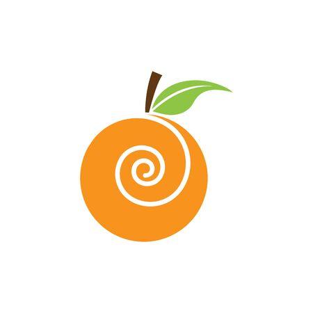 Orange logo design. Vector illustration Stock Vector - 133530404