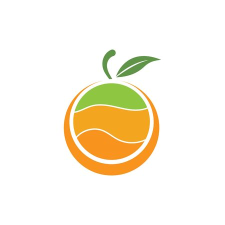 Orange logo design. Vector illustration Stock Vector - 133530403