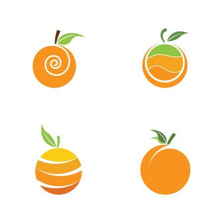 set of Orange logo design. Vector illustration Illustration
