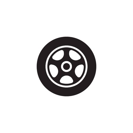 car wheel vector icon design template