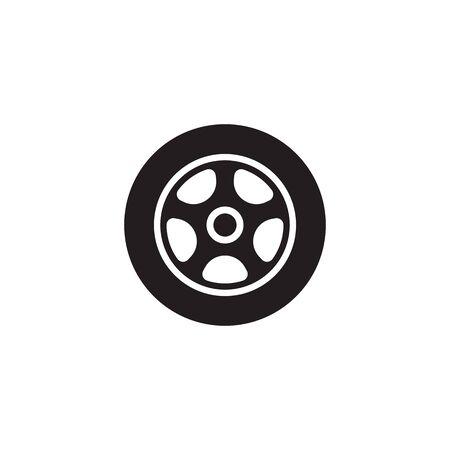 modello di progettazione dell'icona di vettore della ruota dell'auto
