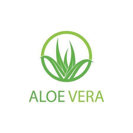 Aloe vera logo vector illustration template Ilustração