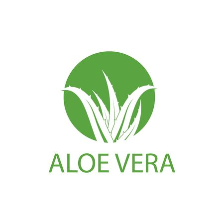 Aloe vera logo vector illustration template Ilustracja