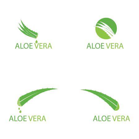 Set of Aloe vera logo vector illustration template Ilustração
