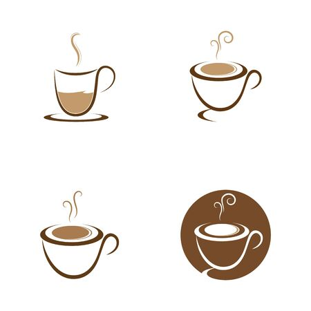 Set of Coffee cup Logo Template vector icon design