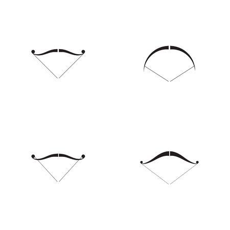 Set of Arrow archery icon vector illustration Logo Template design