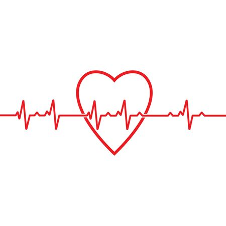 Modèle de vecteur d'impulsion de battement de coeur médical de santé de conception d'art