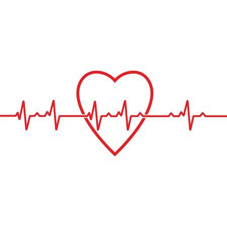 Modello di vettore di impulso del battito cardiaco medico di salute di design di arte