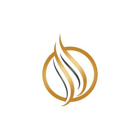 hair icon vector illustration design logo template Logos