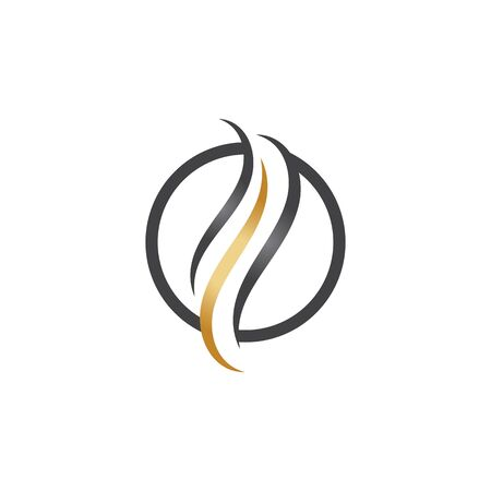 cheveux icône vector illustration design logo modèle Logo