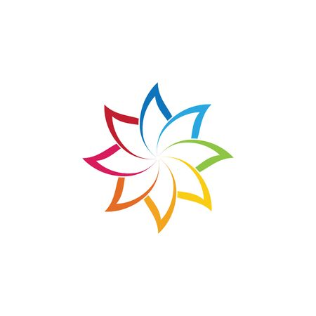 Beauty Vector flowers design logo Template icon Logo